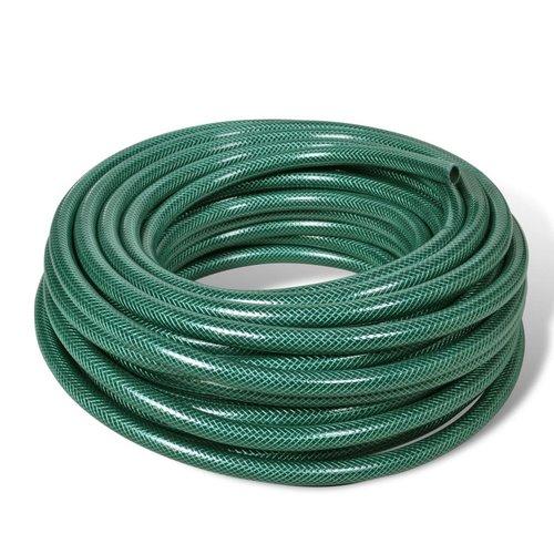 vidaXL Groene PVC tuinslang 50 m / 1 inch diameter