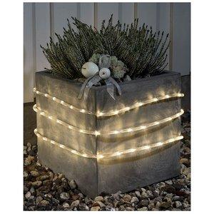 Konstsmide LED Lichtslang 6 meter, met sensor en timer, warm wit - 96 LED's