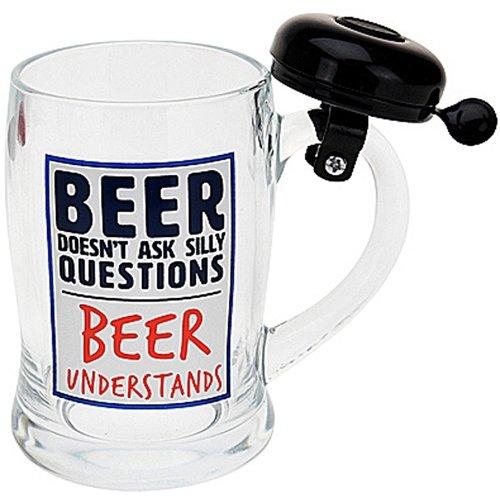 Bierpul met bel - zwart
