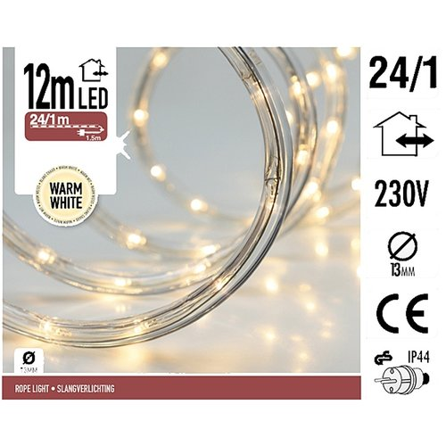DecorativeLighting LED lichtslang 12 meter warm wit