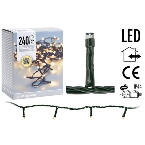 DecorativeLighting LED-verlichting 240 LED's 18 meter - extra warm wit