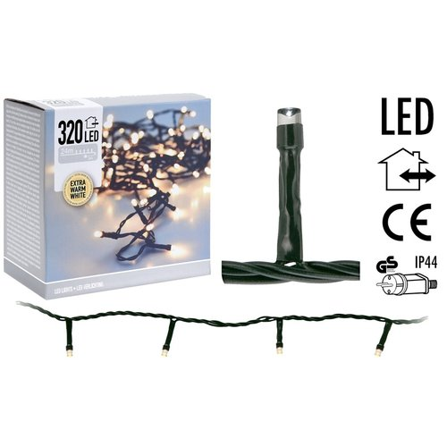 DecorativeLighting LED-verlichting 320 LED's 24 meter - extra warm wit