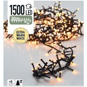 DecorativeLighting Micro Cluster 1500 LED's 30 meter extra warm wit