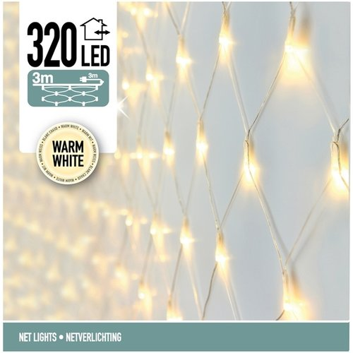 DecorativeLighting Netverlichting 320 LED's 300 x 150 cm warm wit