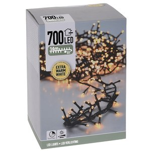 DecorativeLighting Micro Cluster 700 LED - 14m - met timer en dimmer - extra warm wit