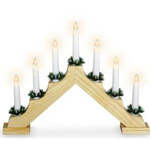 Kaarsenbrug met 7 lampen  - hout