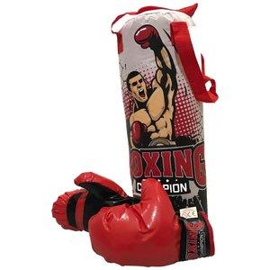 Bokszak met handschoenen
