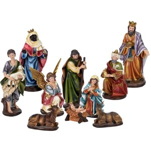 Kerststal figuren - kerstgroep - 10-delig