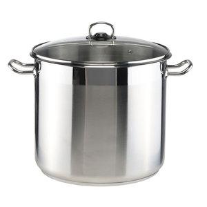Kookpan met glazen deksel - 15 liter