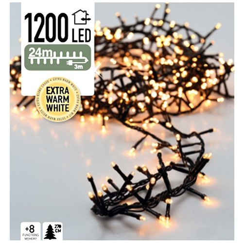 DecorativeLighting Micro Cluster 1200 LED's 24 meter extra warm wit