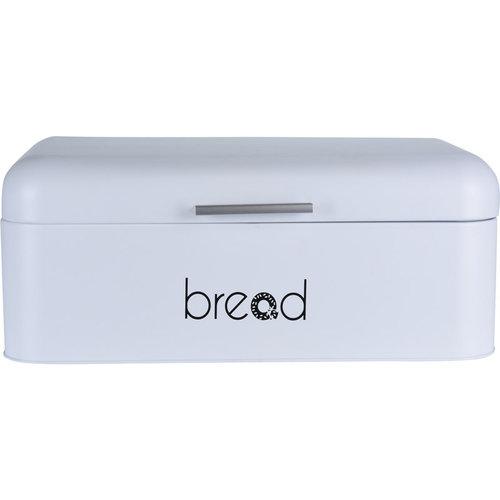 Broodtrommel met klepdeksel - wit