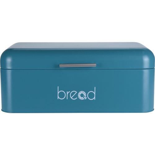 Broodtrommel met klepdeksel - blauw