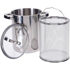 Excellent Houseware. Aspergepan met glazen deksel - 4.2 liter