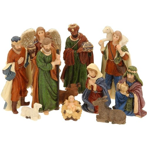 Kerststal figuren 11-delig
