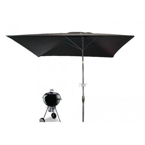 Doppler Barbecue parasol Grillmeister 200x250 cm zwart