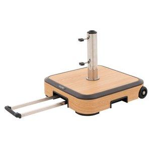 Doppler Onderstel ALU WOOD ca. 50 kg, voorzien van wielen