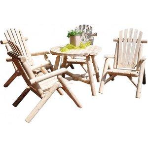 Leco Leco Rustiek rondhout tafel - Naturel hout