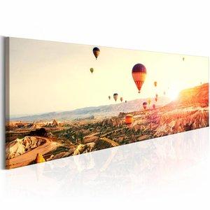 Schilderij - Luchtballon  , multi kleur , 1 luik , 2 maten
