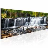 Schilderij - Fairytale Waterfall
