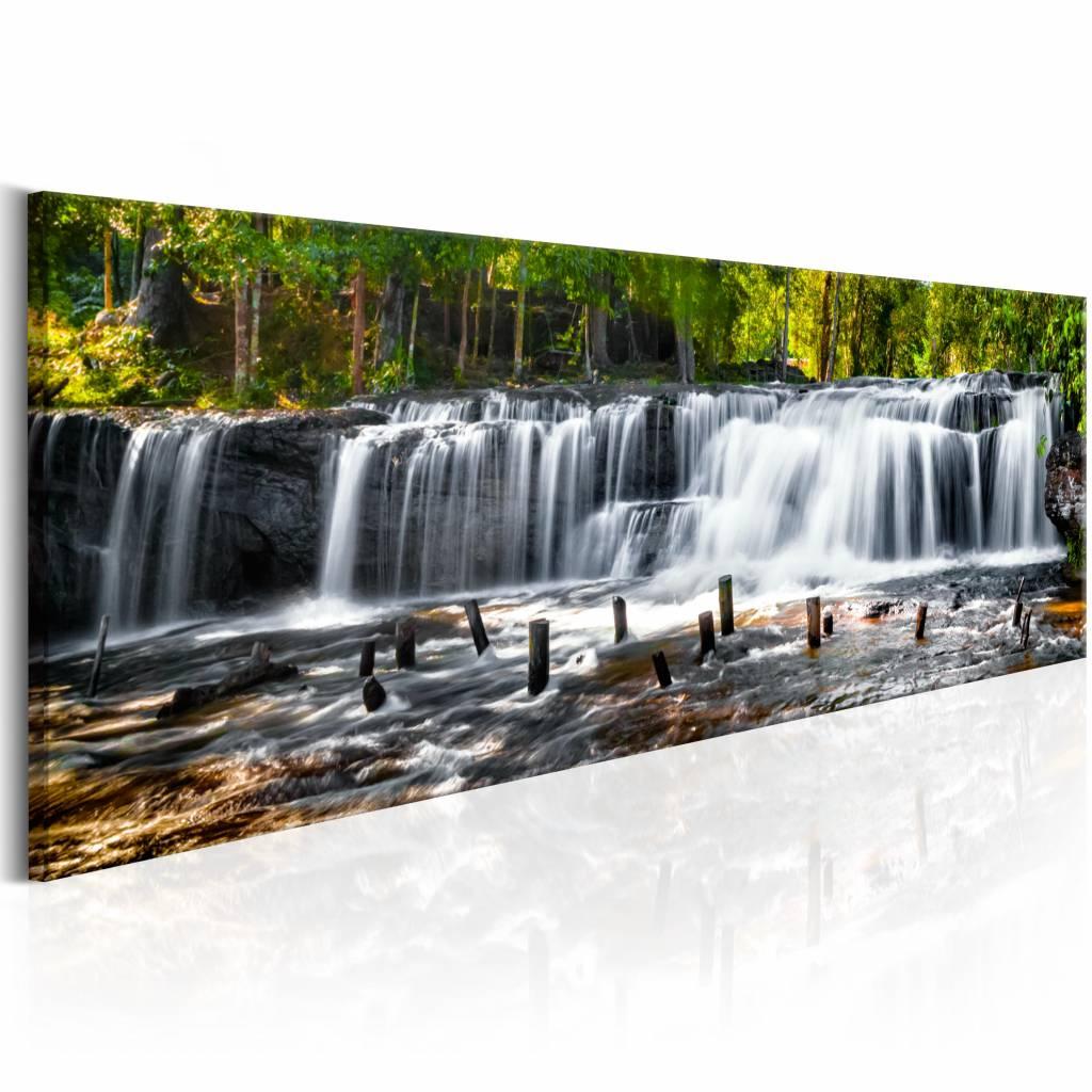 Schilderij - Sprookjes waterval