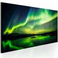 Schilderij - Noorderlicht , groen blauw , 1 luik