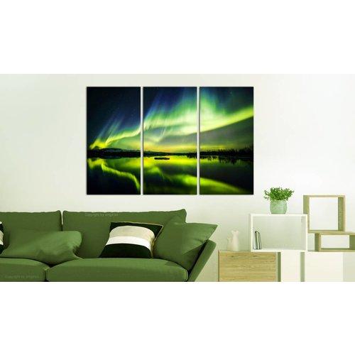 Schilderij - Noorderlicht - 3 luik