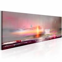 Schilderij - Roze zee 150X50 , grijs , 1 luik