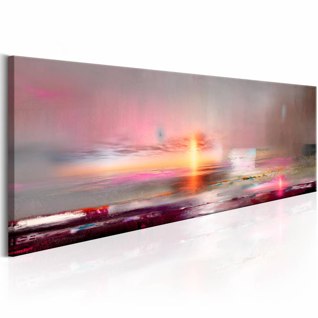 Schilderij - Roze zee