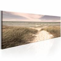 Schilderij - Zomer Dromen 150X50 , groen bruin , 1 luik