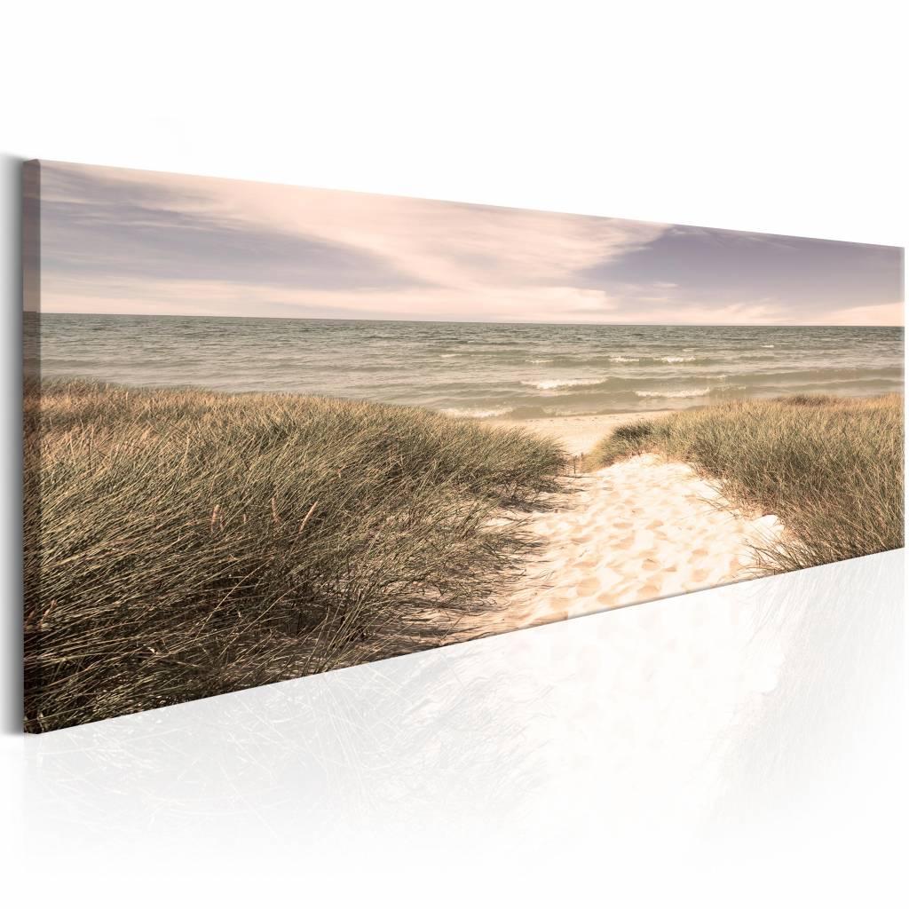 Schilderij - Zomer Dromen , strand en zee