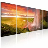 Schilderij - Seljalandsfoss Waterval - 5 luik