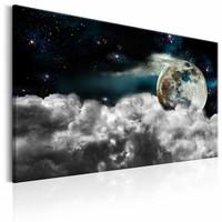 Schilderij - Magische nacht  , wolken aarde
