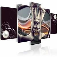 Schilderij - Platinum Kus, Multi-gekleurd, 2 Maten, 5luik