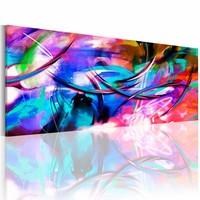Schilderij - Kleuren gevecht 150X50 , multi kleur , 1  luik