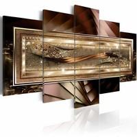 Schilderij - Gouden draad, 5luik