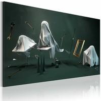 Schilderij - Spookkamer, Grijs, 1luik