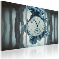 Schilderij - Vadertje tijd,Blauw/Grijs, 3luik