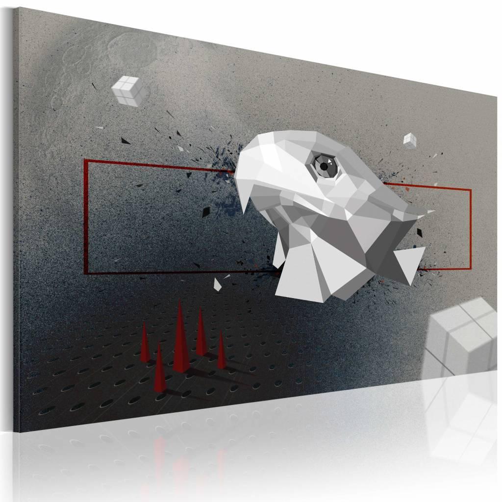Schilderij - arend - 3D, Grijs, 1 luik