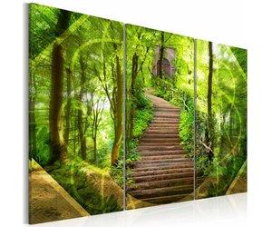 Schilderij ingang tot het paradijs in delen brug karo art vof