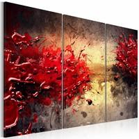 Schilderij - Rode verf splash
