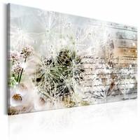 Schilderij - Starry Dandelions, 120X80, Wit/Beige, 1luik