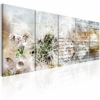 Schilderij - Abstract Dandelions I