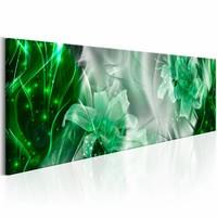 Schilderij - Emerald Flames