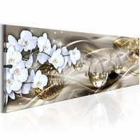 Schilderij - Galaxy of the Orchid