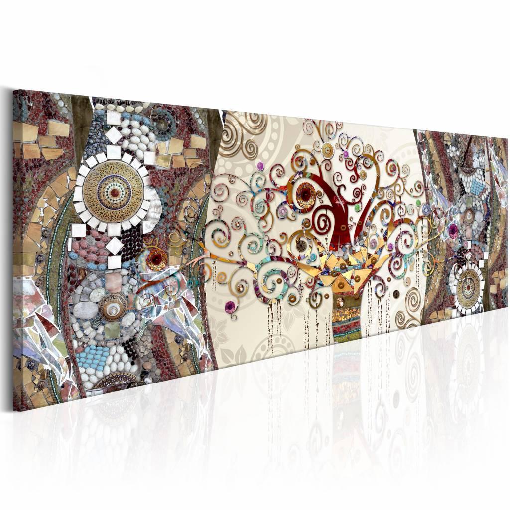 Schilderij - Mozaïek Abstract
