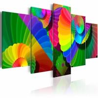 Schilderij - Twisted Colours