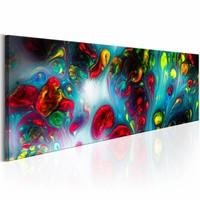 Schilderij - Abstracte achtergrond , multi  kleur