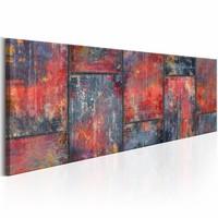 Schilderij -Metalen mozaïek op canvas