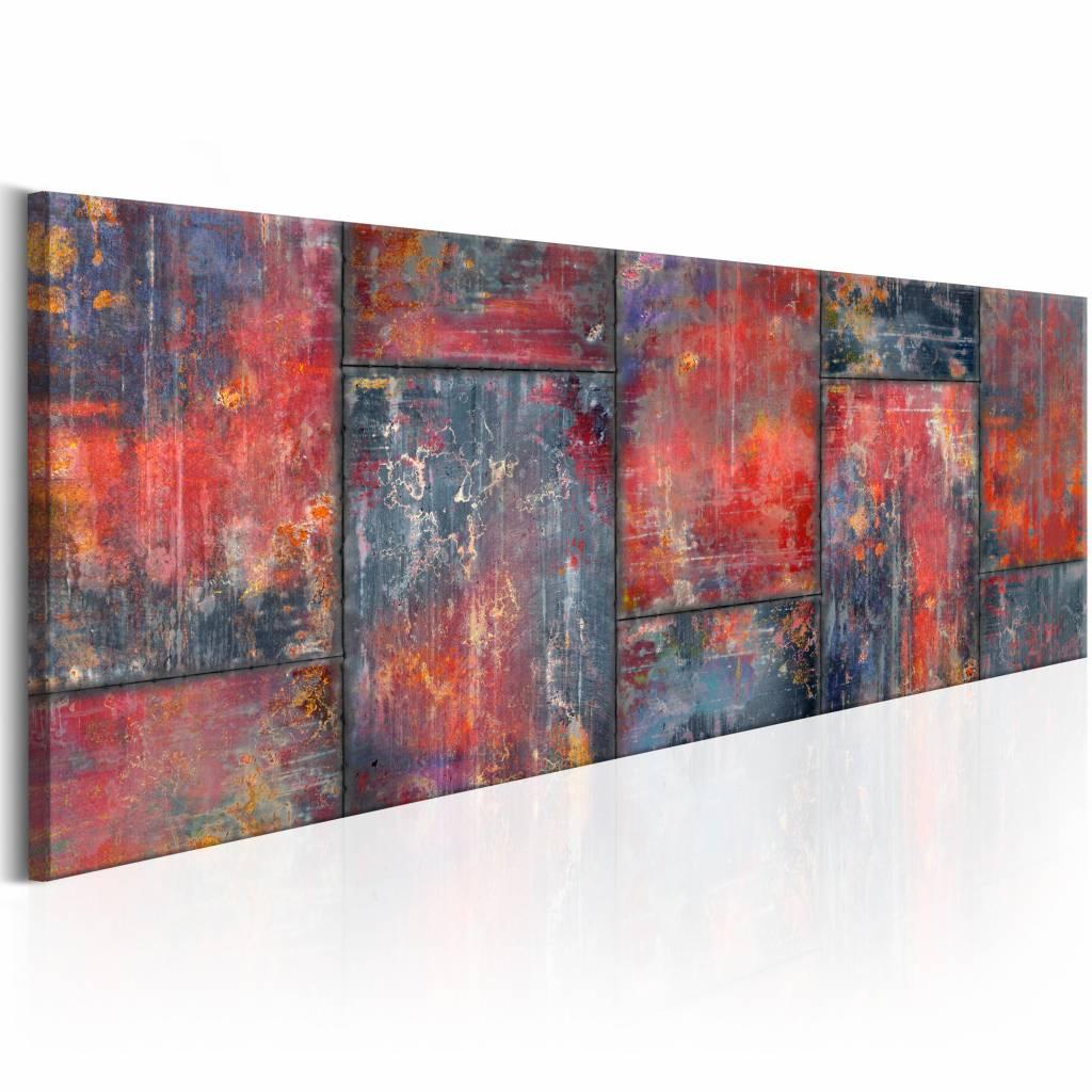 Schilderij -Metalen mozaïek op canvas -  1 luik - 150x50 cm