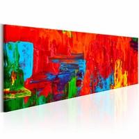 Schilderij - Vurige Fantasie , 150X50cm